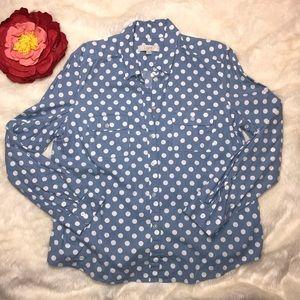 Ann Taylor Loft Polka Dot Shirt